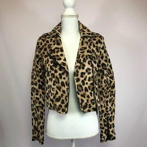 H&M Leopard Motto Jacket